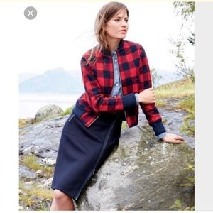 NWT J.crew  buffalo check bomber jacket